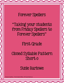 Spelling - Closed Syllable - Short o - 1st Grade