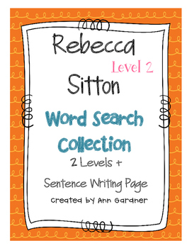 Rebecca Sitton Word Search Collection Level 2 - Updated!