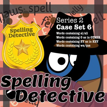 Spelling Detective: The SPaG Game: Series 2: Case Set 6