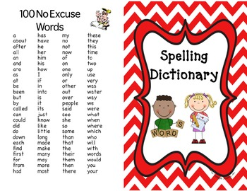 Spelling Dictionary for Primary Students
