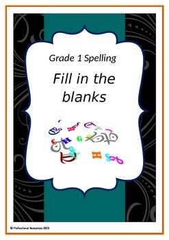 Spelling - Fill in the Missing Letter - 1