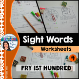 Sight Words Worksheets - Fry 1 to 100