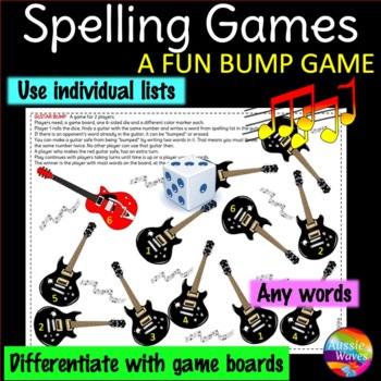 Spelling Activity BUMP GAME Use individual lists Any words