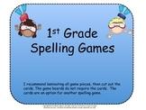 Spelling Games for 1st Grade