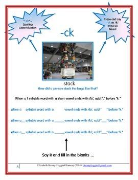 """Spelling Generalization: The """"-ck"""" Rule/Generalization"""