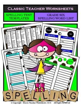Spelling - Grade 6 (6th Grade) Spelling Word List & Spelli