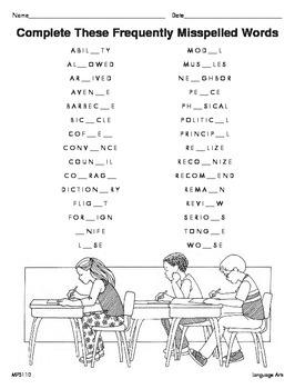 Spelling (CCSS L.7.2b)