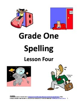 Spelling Grade One Lesson Four