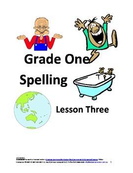 Spelling Grade One Lesson Three