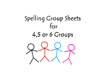 Spelling Group Forms