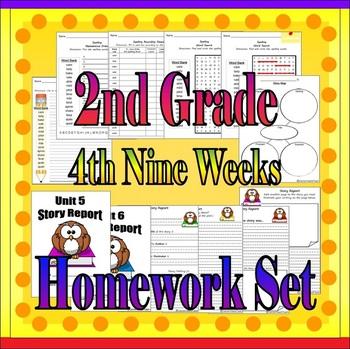 Spelling Homework (4th Nine Weeks- Second Grade)