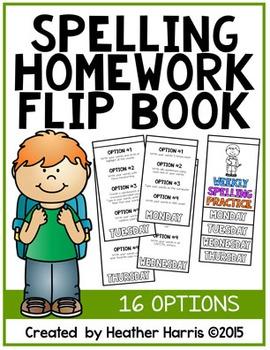 Spelling Homework Flip Book {16 creative options}