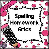 Spelling Homework Grids (Freebie!)
