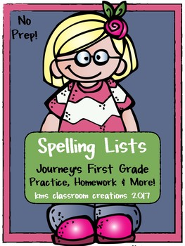 1st Grade Spelling Homework Lists and More!  (Journeys Sequence)