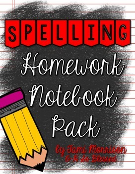 Spelling Homework Organization Pack [a tool for differentiation]