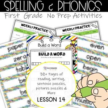 Spelling Interactive Activities Word Work Lesson 14 {Grade 1}