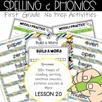 Spelling Interactive Activities Word Work Lesson 20