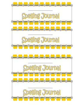 Spelling Journal Labels