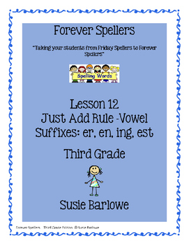Spelling - Just Add Rule - Vowel Suffixes - 3rd Grade