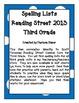 Spelling Lists - Reading Street 2013 - 3rd Grade - Unit 4