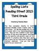 Spelling Lists - Reading Street 2013 - 3rd Grade - Unit 6