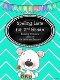 Spelling Lists for 2nd Grade Reading Wonders