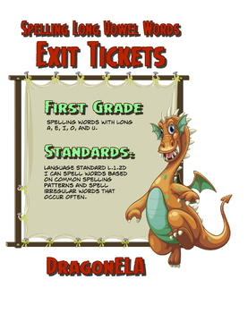 Spelling Long Vowel Words Exit Tickets