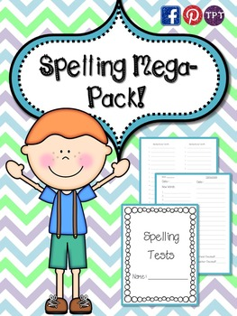 Spelling Mega Pack Everything you need for spelling tests