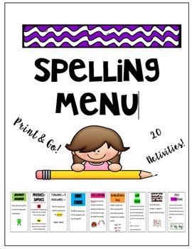 Spelling Menu Contract Matrix