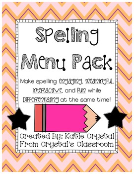 Spelling Menu Pack