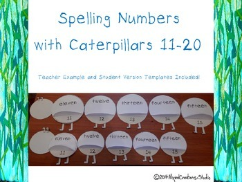 Spelling Numbers Caterpillar 11 to 20
