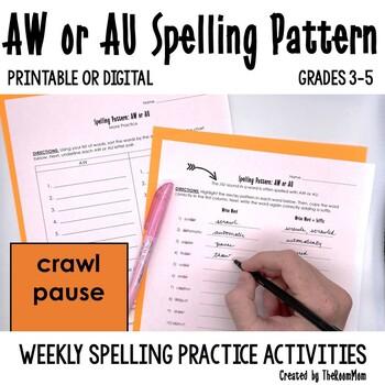 AW, AU Spelling Pattern