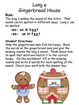 Spelling Patterns for Long Vowels-Christmas Theme