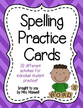 Spelling Practice Cards