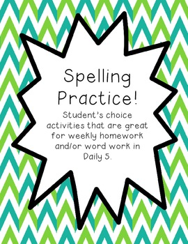 Spelling Practice-Great for Daily 5 Word Work!