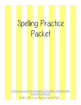 Spelling Practice Packet