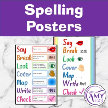 Spelling Practise Posters