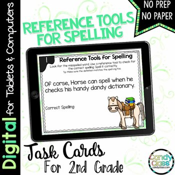 Spelling Task Cards for Google Use (Using Reference Tools)