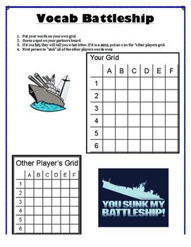 Spelling Resource - Battleship Game