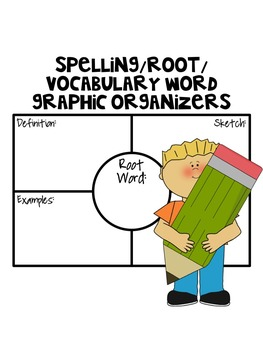 Spelling/Root/Vocabulary Word Graphic Organizers (Based on