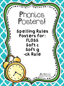 Spelling Rules Posters (blue and green)