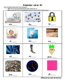 Spelling Rules -ck, -tch, -dge Activity Bundle