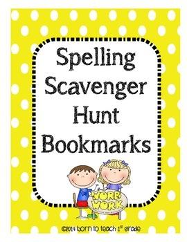 Spelling Scavenger Hunt Bookmarks: Applying Spelling Patte