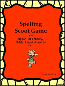 Spelling Scoot for Upper Elementary & Middle School Studen