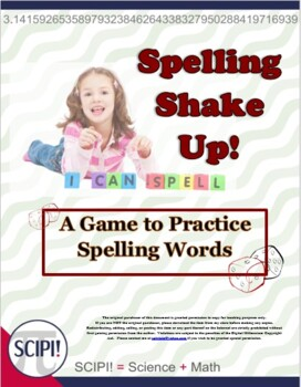 Spelling Shake Up - Three Games to Practice Spelling Words