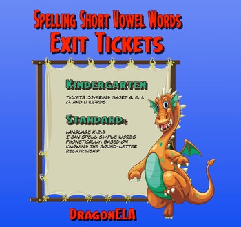 Spelling Short Vowel Words Exit Tickets