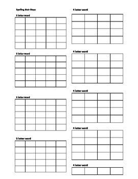 Spelling Stair Steps form