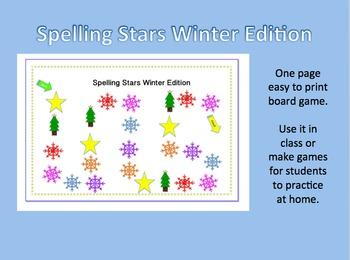 Spelling Stars Winter Edition