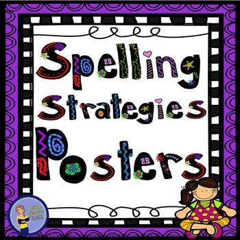Spelling Strategies Posters Purple Frame