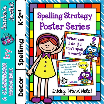 Spelling Strategy Posters For Tricky Words {UK Teaching Resource}